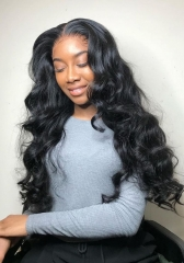 100% Human Hair Pre Plucked Loose wave Frontal Wig